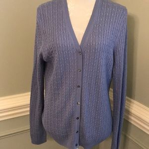 Brook Brothers Silk/ Cashmere Cable Knit Cardigan